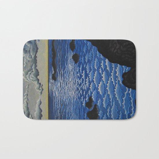waves moonlight Bath Mat