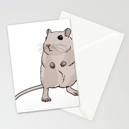 Mouse Illustration Stationery Cards