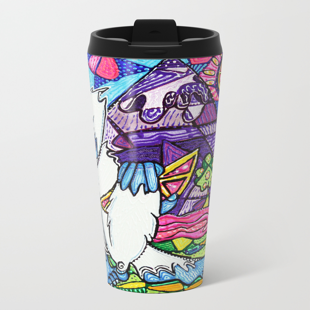 Yeti Love Pink Lemonade Metal Travel Mug by Laurabarbosaart MTM7191459