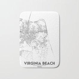 Minimal City Maps - Map Of Virginia Beach, Virginia, United States Bath Mat