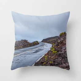 The Endless Road Throw Pillow