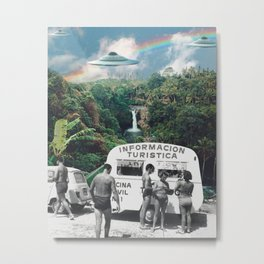 The Visitors // UFOs in Paradise Metal Print
