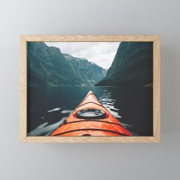 The Red Kayak Framed Mini Art Print