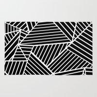 Ab Lines Zoom Black Rug