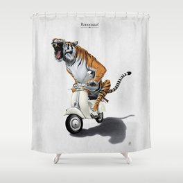 Rooooaaar! Shower Curtain