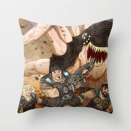 RUN GEARS RUN Throw Pillow