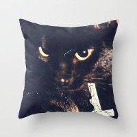minion Throw Pillows featuring Minion by LA CRISE