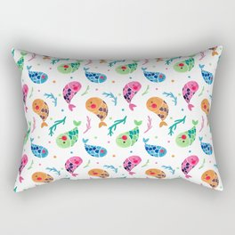 The Happy Fish Pattern Rectangular Pillow