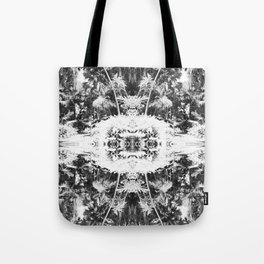 Black n White Boho Pattern Tote Bag