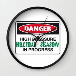 holiday season danger Wall Clock