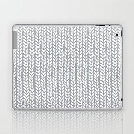 Knit Wave Grey Laptop & iPad Skin