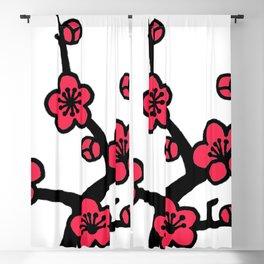 Japanese Plum Tree Blackout Curtain