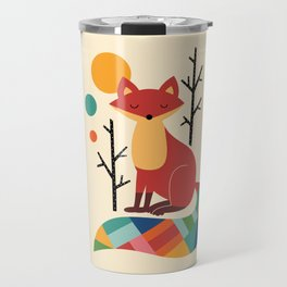 Rainbow Fox Travel Mug