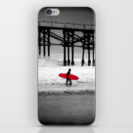 Red Surfboard iPhone Skin