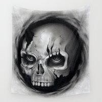 skull Wall Tapestries featuring Skull by Puddingshades