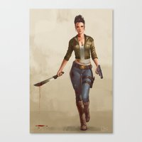 grace Canvas Prints featuring Grace by Kelly Perry