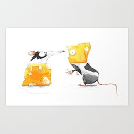 Swap Me! #Cheese Art Print