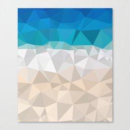 Low poly beach Canvas Print
