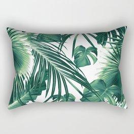 Tropical Jungle Leaves Dream #3 #tropical #decor #art #society6 Rectangular Pillow