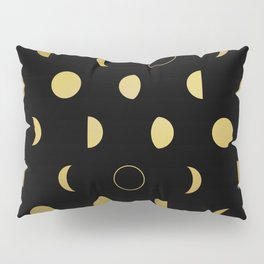 Gold Moon Phases Pillow Sham
