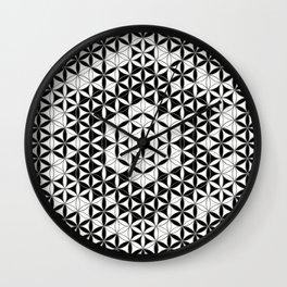 Mandala Star Flower And Crystal Grid Wall Clock