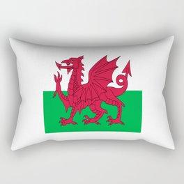 Flag of Wales,uk,great britain,dragon,cymru, welsh,celtic,cymry,cardiff,new port Rectangular Pillow