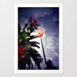 Urban double exposure Art Print