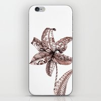 henna iPhone & iPod Skins featuring Henna Lily by Elisa Camera