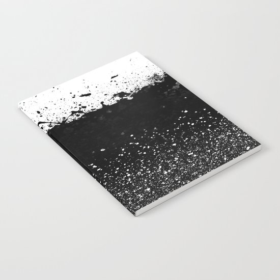 Black and White Splatter Theme Notebook