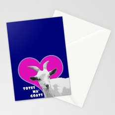 Totes Ma Goats - Blue Pink Stationery Cards