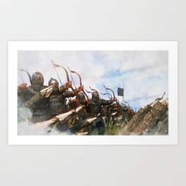 Medieval Army in Battle Art Print