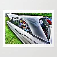 stickers Art Prints featuring Stickers by christopher justin gilner photographic