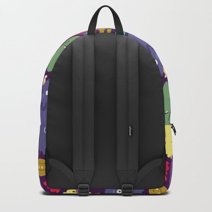 Cute monster pattern Backpack