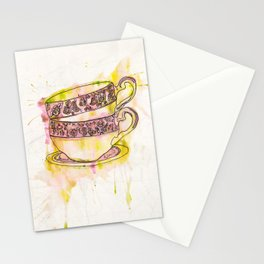 Watercolour Vintage Teacups Stationery Cards