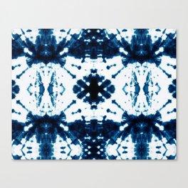 Velvet Shibori Blue Canvas Print