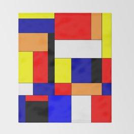 Mondriaan #9 Throw Blanket