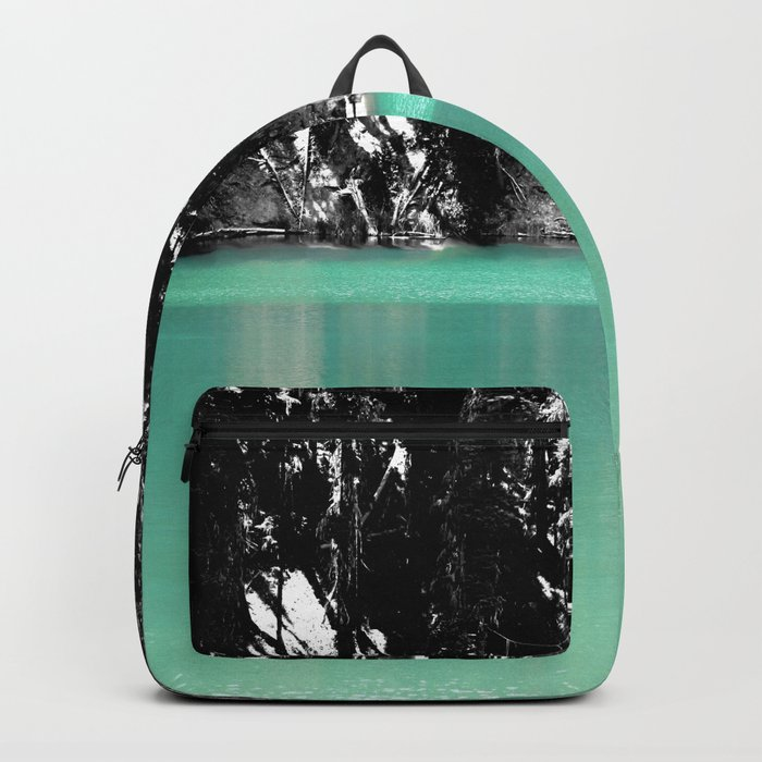 Green Water, Black and White Backpack