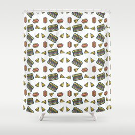 fast food white Shower Curtain