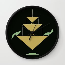 Stuttgart art expo: feed the birds Wall Clock