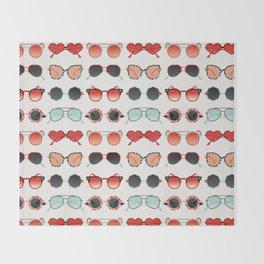 Sunglasses Collection – Red & Mint Palette Throw Blanket