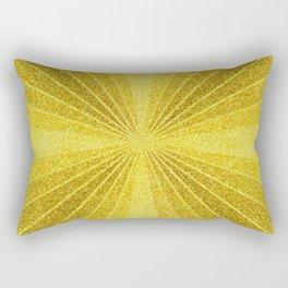 Geometric gold glitter mosaic, diagonal sun rays, gold abstract sparkles Rectangular Pillow