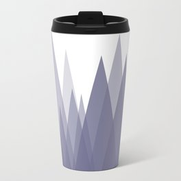 Purple Mountains Abstract Landscape Travel Mug