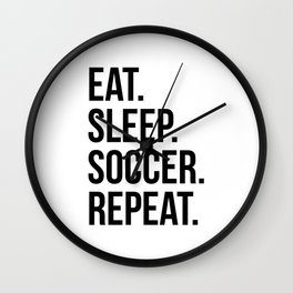 Eat sleep Wall Clock