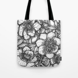 Hellobores in Ink Tote Bag