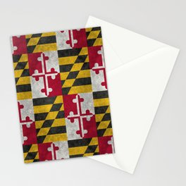 Flag of Maryland, in grungy vintage Stationery Cards