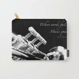 Music Speaks Carry-All Pouch