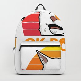 Woman Yelling At Table Dinner Funny Cat Ok Boomer Backpack