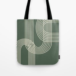 Minimalist Lines in Forest Green Tote Bag