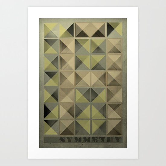 Asymmetry Art Print