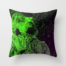 Flashy T-Rex  Throw Pillow
